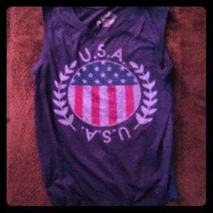 Sleeveless USA Tank Size Juniors L